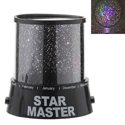 Romatic Cosmos Moon Star Master Projector LED Starry Night Sky Light Lamp TL