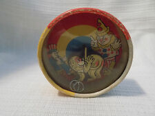 VINTAGE DEXTERITY PUZZLE GAME TOY JAPAN CIRCUS MONKEY & RINGS GLASS TOP