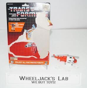 Blades Defensor W Cardback Vintage Figurine Transformateurs Hasbro 1986 G1