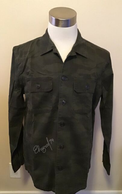 ebfcca8549e0a NWT Abercrombie & Fitch Men's MILITARY SHIRT JACKET, Dark Grey, Camouflage,  ...