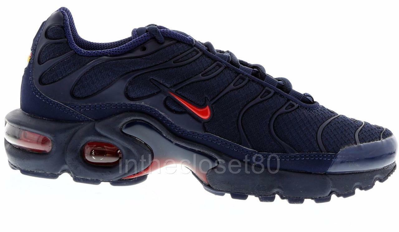 Nike Air Max Plus GS Tn Tuned 1 1 Tuned Navy Blau ROT Juniors Girls Boys Damenschuhe 655020 7e6075