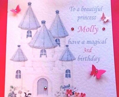 PERSONALISED HANDMADE CARD BIRTHDAY GIRL ALL AGES DAUGHTER SISTER NIECE FRIEND
