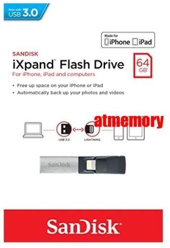 Sandisk iXpand 32GB 64GB 128GB 256GB Lightning USB Flash Drive for iPhone//iPad