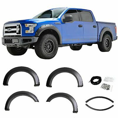 Fits 15-18 FORD F150 STYLESIDE POCKET-RIVET STYLE FENDER FLARES Quality Matters