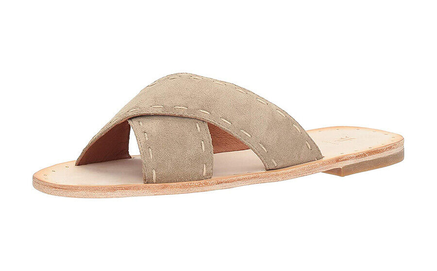 New in Box-Frye Avery pickstitch Slides Femmes Sandales (fabricants Standard prix de détail  150)