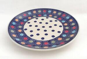 Das-Geschenk-Beilagen-Teller-22-cm-Bunzlauer-Keramik-ni3312-Handarbeit-must106
