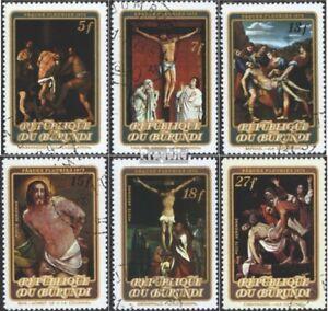 Strict Burundi 920a-925a Oblitéré 1973 Pâques: Peintures Produire Un Effet Vers Une Vision Claire