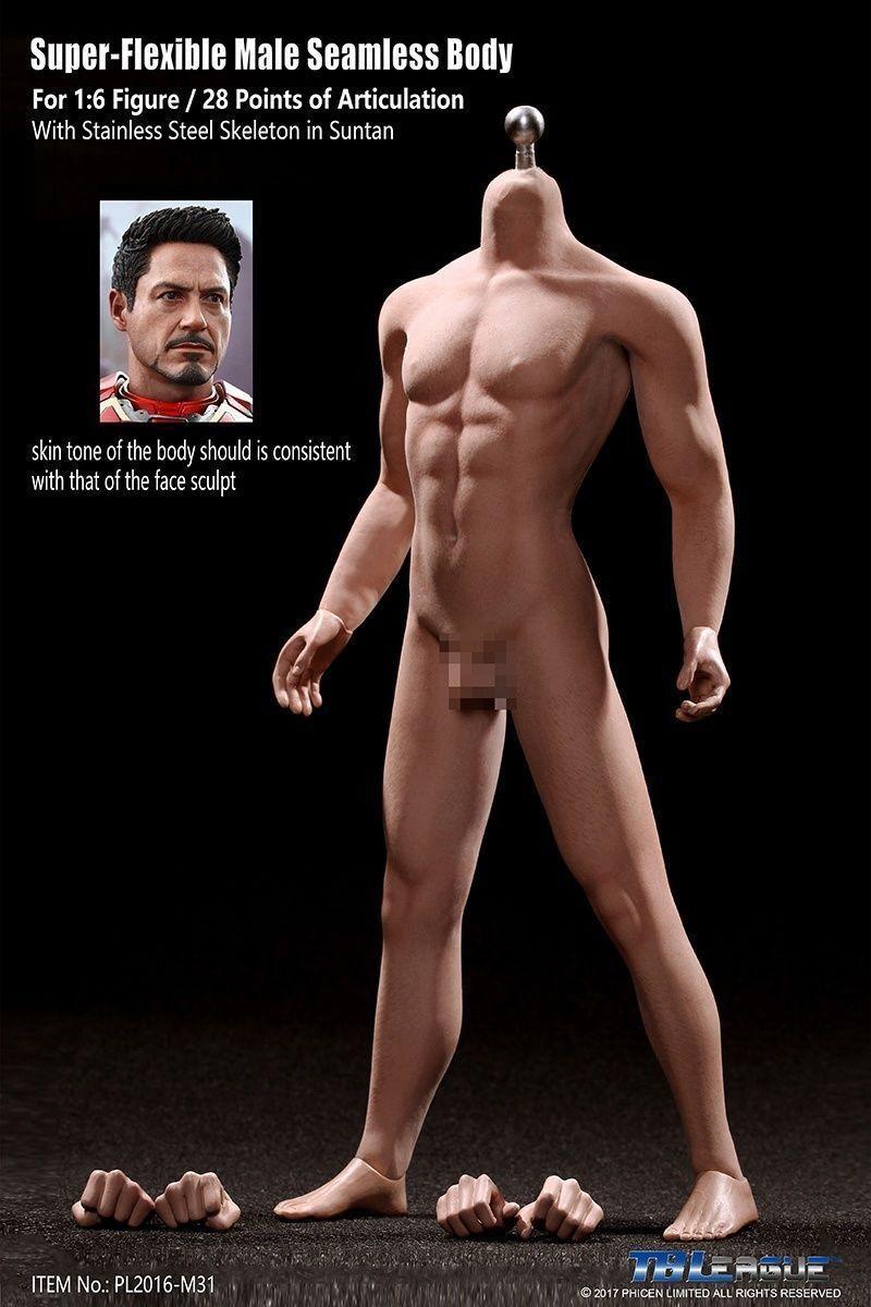 Tbleague phicen m31 1   6 männliche figur körper modell nahtlosen, nichtrostenden muskeln spielen