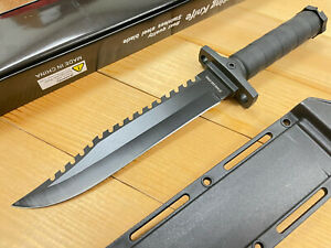 """13.5"""" Tactical Survival Fixed Blade Bowie Knife w/ Hard Sheath Rambo Hunting"""