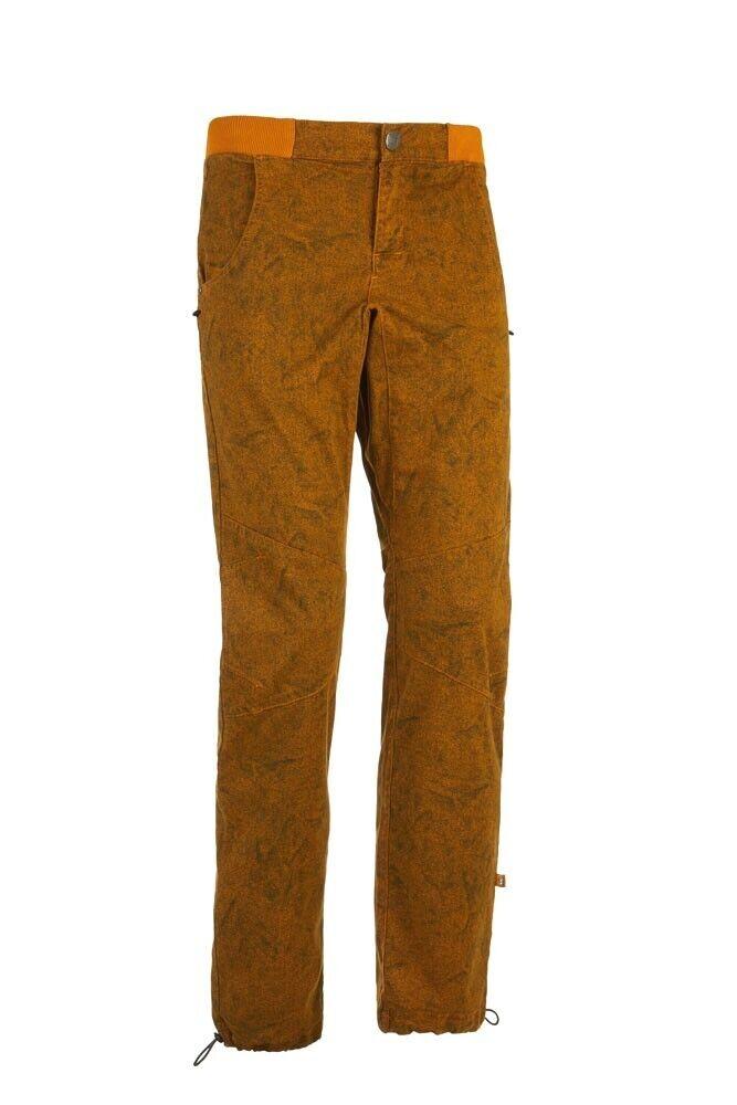 E9 Gu 19 Robusto Pantaloni per Arrampicata per Uomo Senape