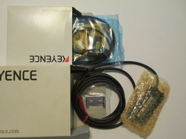 KEYENCE LV-21AP LASER SENSOR AMPLIFIER /& LV-H62 LASER SENSOR HEAD