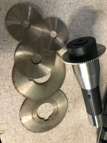 NEW  Bridgeport Milling Machine R8 FLY CUTTER W// SLITTING SAW LOT X5