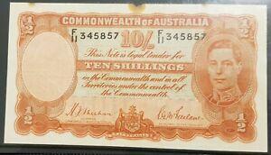 1939 Australia 1st 10 Shillings George VI R12 SHEEHAN/McFARLANE vF  F/11 345857