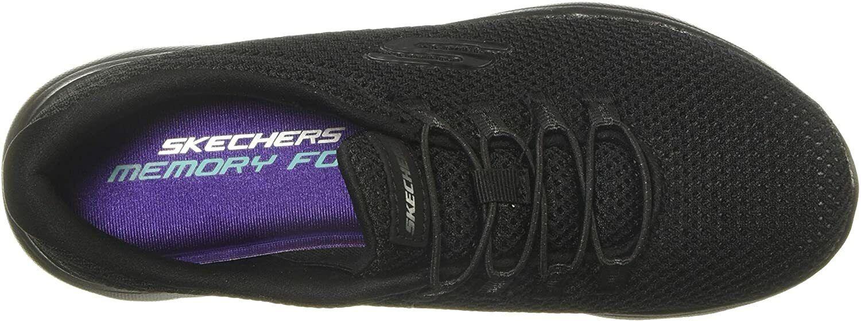 SKECHERS black ladies trainer 12985 - Summits mesh bungee slip on Memory foam