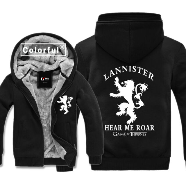Game of Thrones House Lannister of Casterly Rock Sweater Hoodies Winter Coat