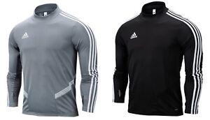 e72f6885 Adidas Men TIRO 19 Training Shirts Black Gray Running Soccer Top ...
