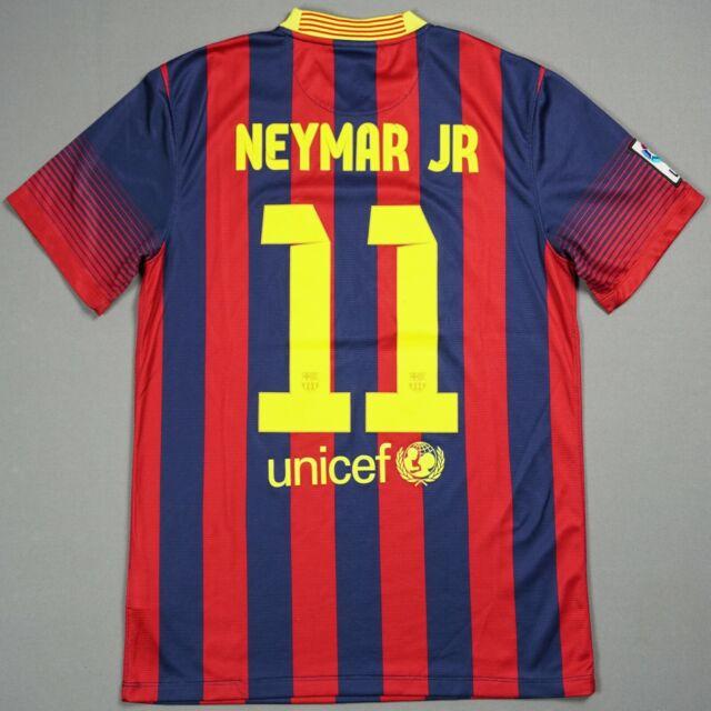 NEYMAR FC BARCELONA 2013/14 M Home Football Shirt Jersey ...