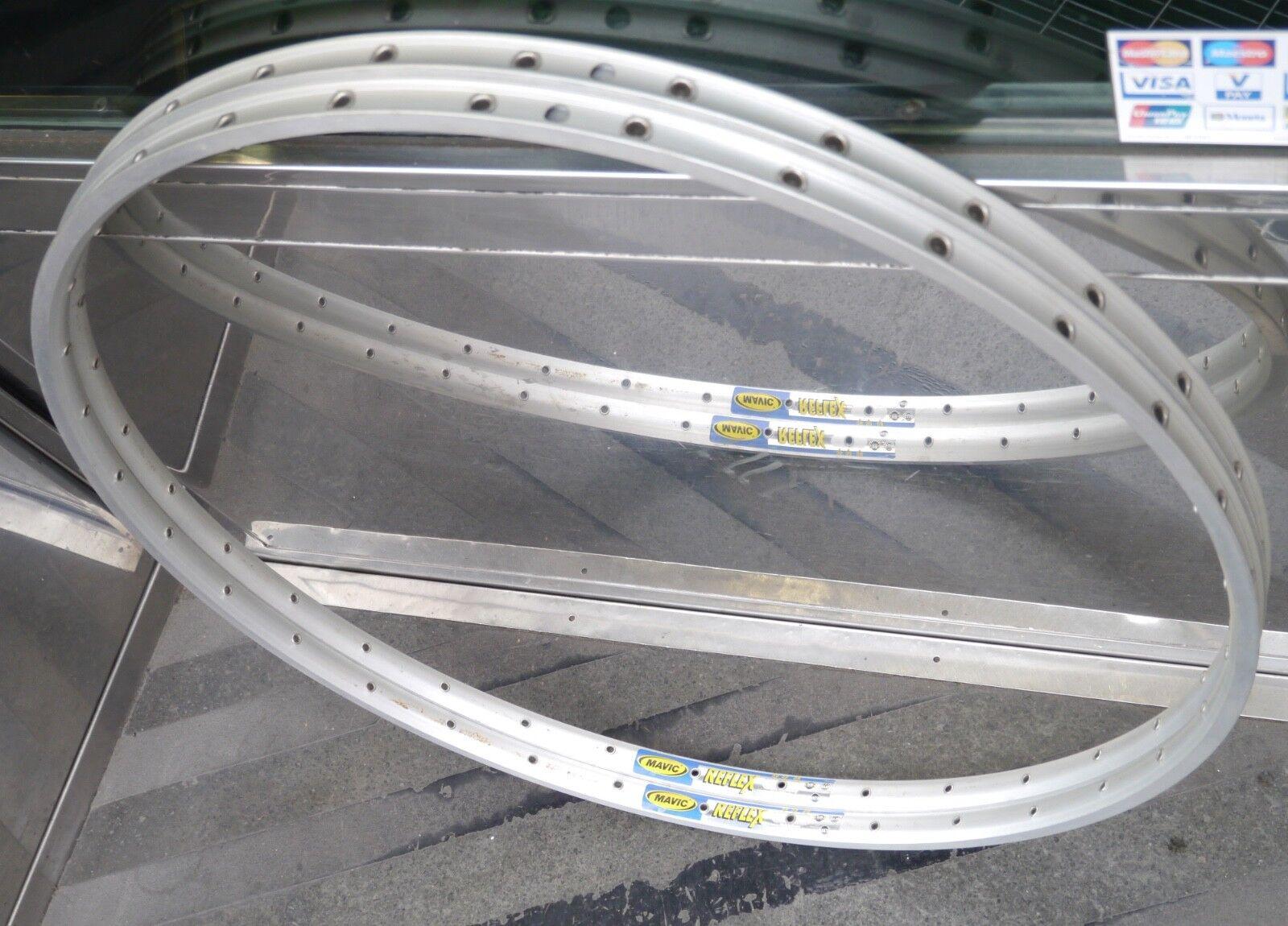 """NOS Mavic Reflex 32 holes tubular rims (pair), 700c (28"""")"""