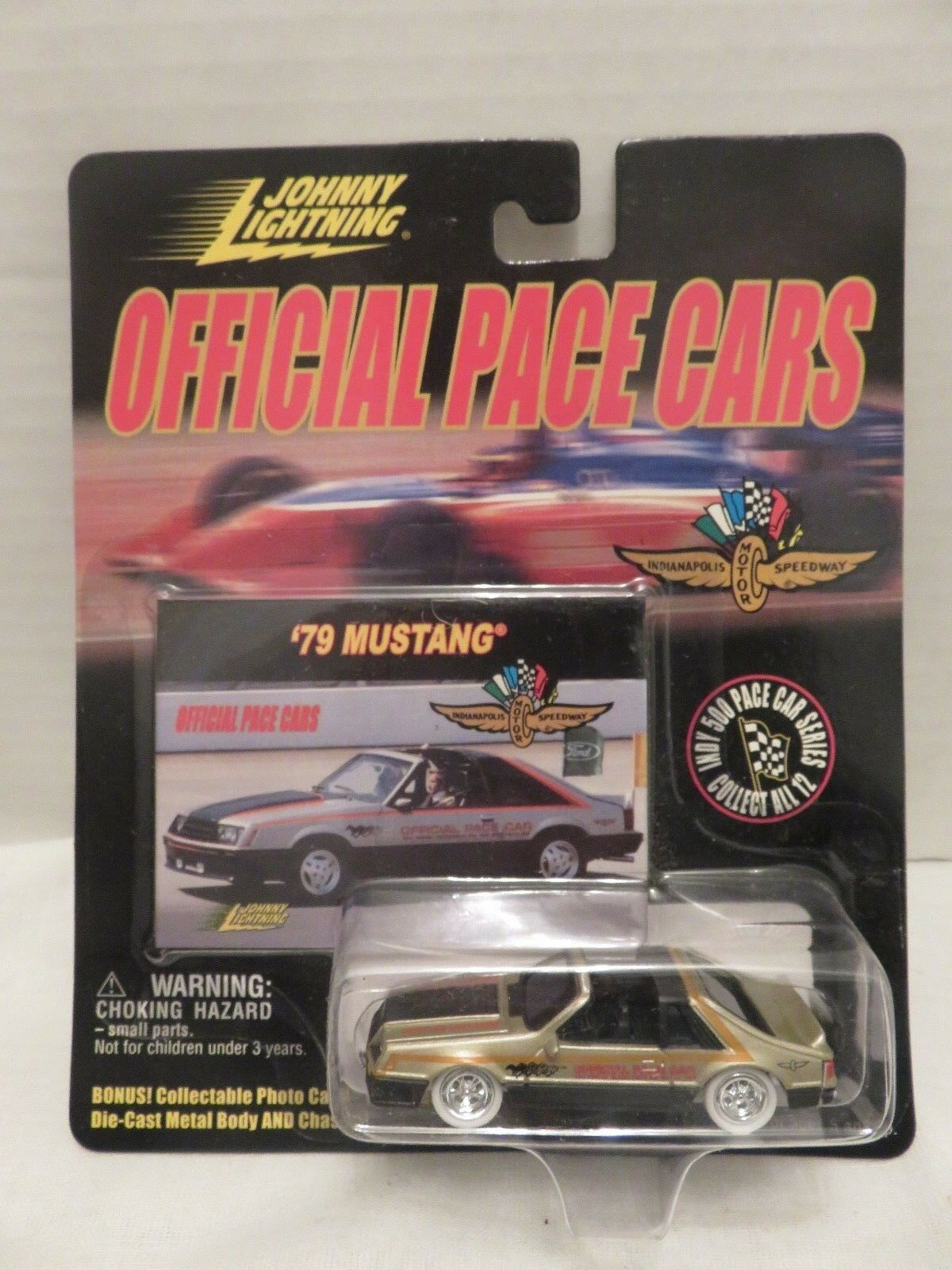 Johnny Lightning Mustang'79 Indy 500 OFFICIAL PACE CAR 40201 blanc Lightning