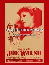 "Stevie Nicks / Joe Walsh Austin Texas 16"" x 12"" Photo Repro Concert Poster"