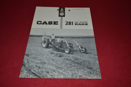 Case Tractor 281 Side Delivery Rake Dealer/'s Brochure YABE4