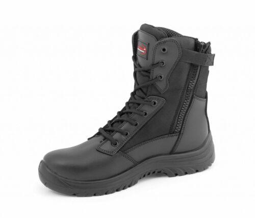 Hommes Sécurité Toe Work Boots S3 Combat Uniforme des policiers militaires résistant à l/'eau