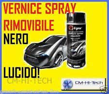 VERNICE SPRAY NERO LUCIDO PELLICOLA REMOVIBILE 400ML CERCHI AUTO MOTO SUV DGEAR