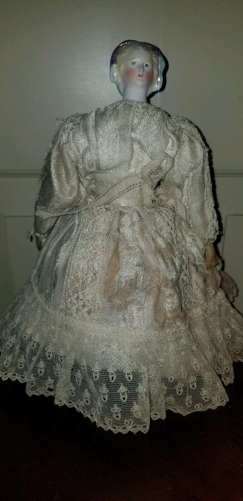 ANTIQUE WALKING AUTOPERIPATETIKOS EMPRESS EUGENIE Parian Shoulder Head Doll