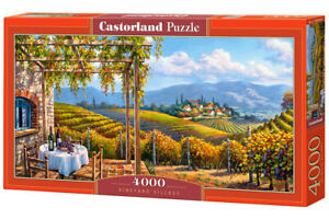 "Castorland Puzzle 4000 Pieces - VINEYARD VILLAGE - 54"" x 27"" Sealed box C-400249"