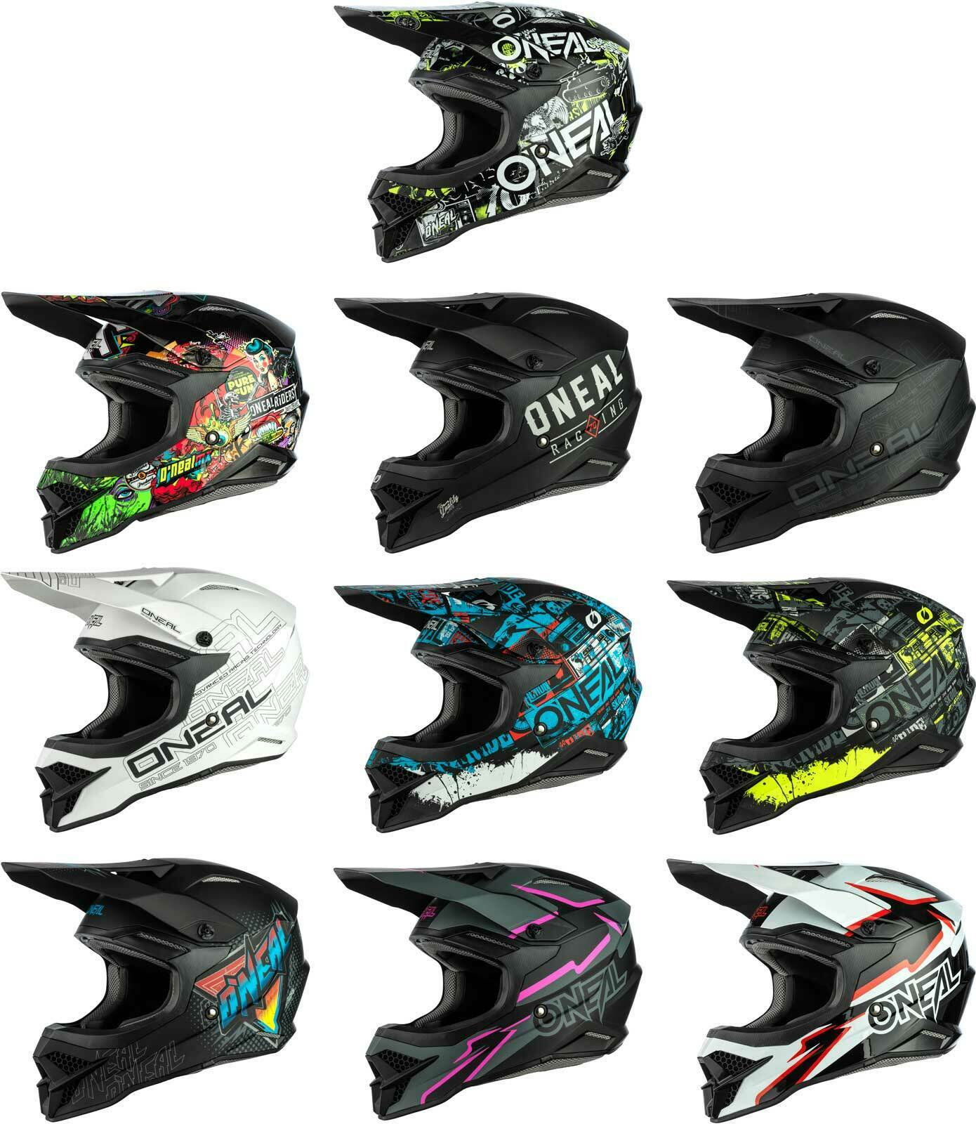 ONeal 2 Series Unisex-Adult Off-Road Helmet White//Blue//Red, XS
