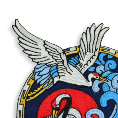 """9.3/"""" Flying Crane Badge Embroidery Sew On Iron On Patch Cloth Applique Fabric"""