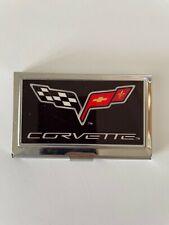 Corvette C6 Stainless Pocket Business Card Holder Case