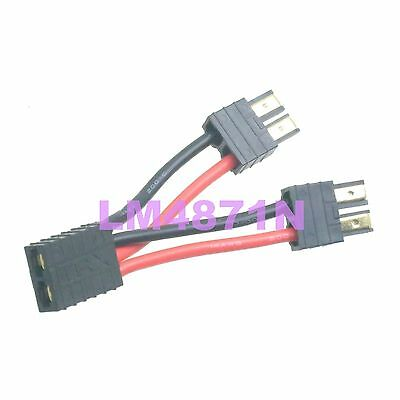 Traxxas TRX Parallel Connector Adaptor 12awg 10cm wire for double Lipo battery