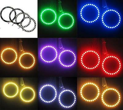 RGB LED Headlight 4*90mm 5050 SMD Multi-Color LED Angel Eye Halo Ring Light Kit