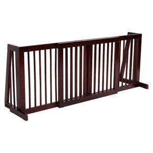 Image Is Loading Indoor Pet Gate Wood Dog Fence Folding Kid