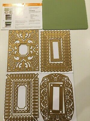 NEW Recollections Folder /& Dies 508073 Feather Embossing 4 Cutting Dies