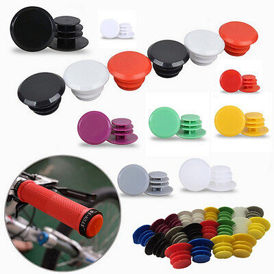 3Pair Bicycle Bike Handlebar Plastic End Plugs Bungs Caps End Plugs Cap KITC