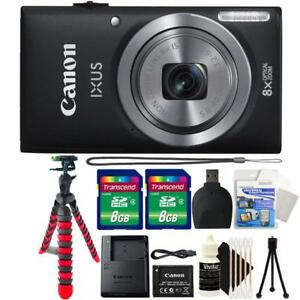 Canon-IXUS-185-ELPH-180-20MP-Digital-Camera-Black-and-Accessories