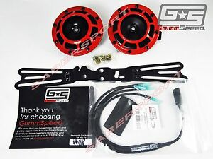 grimmspeed mounting bracket hella horn wiring harness for 2015 image is loading grimmspeed mounting bracket hella horn wiring harness for