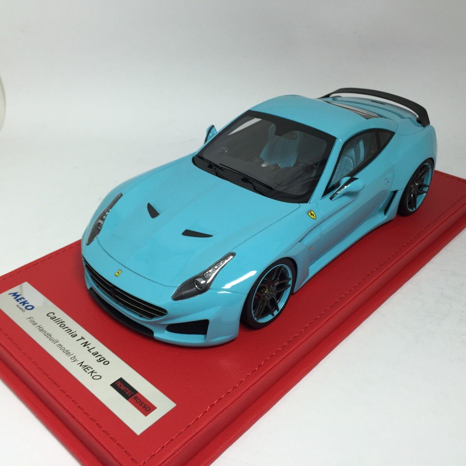 1 18 Meko Ferrari California T N-Largo F1 Baby bluee Ltd 10 pcs
