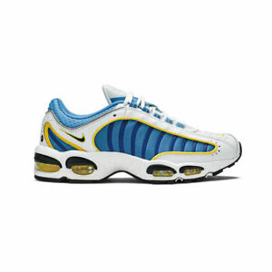 Nike-Men-039-s-Air-Max-Tailwind-4-IV-White-Blue-Yellow-Running-Shoes-CD0456-100-NEW