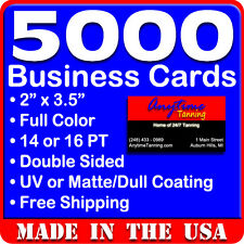 2500 Business Cards Glossy Front Single Sided Full Color No Hidden