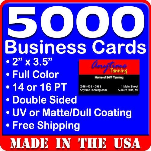 5000 full color double sided custom business cards real printing ebay 5000 full color double sided custom business cards real printing free shipping reheart Gallery
