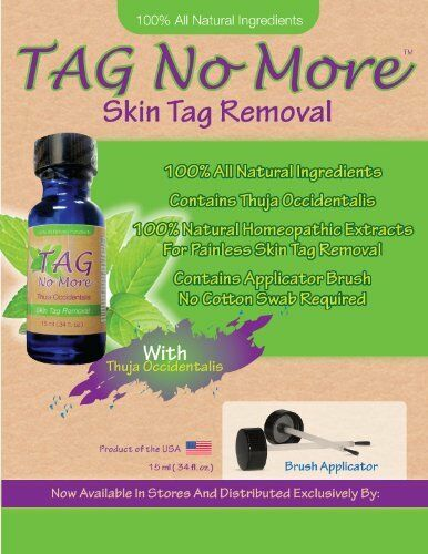 Tag No More, Skin Tag Remover, Wart Remover, Homoeopathic Remedy for Skin tags