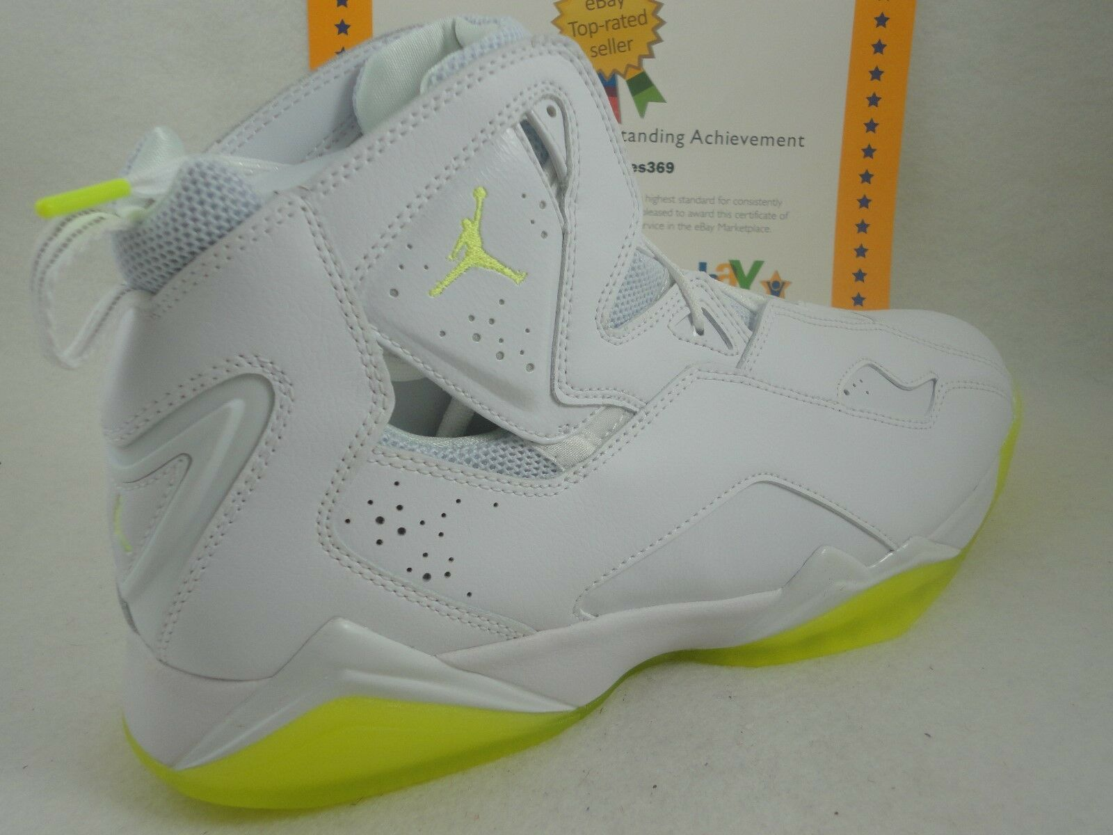 Nike Jordan True Flight, White   Volt Ice, Sz 14
