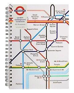London The Tube 2 Spiralblöcke 2 Notebooks,U-Ba<wbr/>hn,Underground Coll.