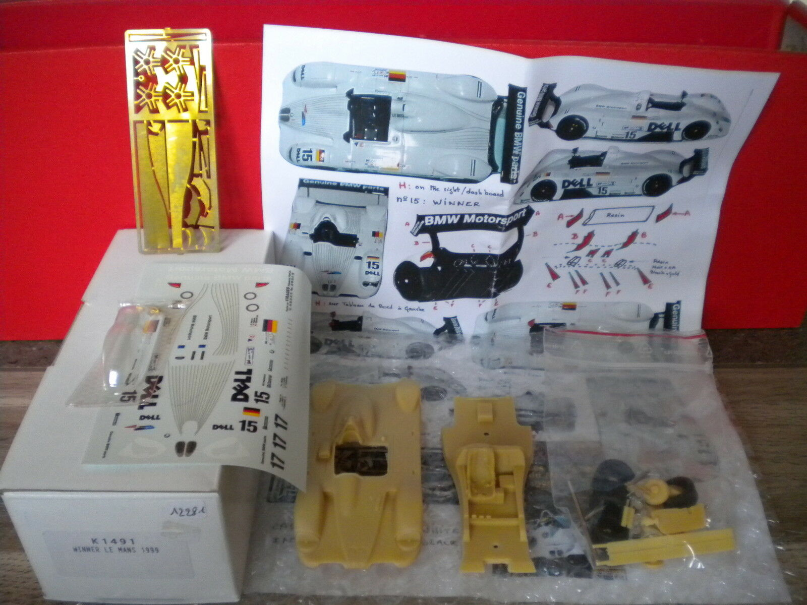 Complete kit in box provence moulage = winner le mans 1999 ref 1491