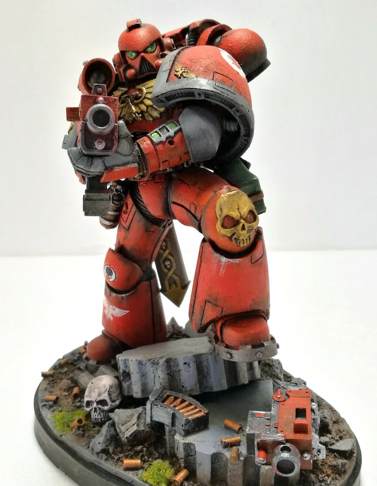 FORGE WORLD grand SCALE 150mm  SPACE MARINES 40K MASTER PAINTED LIMITED EDITION  bonne réputation