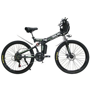 Electric-bicycle-26-inch-folding-mountain-bike-soft-tail-full-shock-absorber-CE