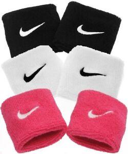 2 X Nike Swoosh Schweißband Schwarz Weiß Handtuch Aerobic Fitness